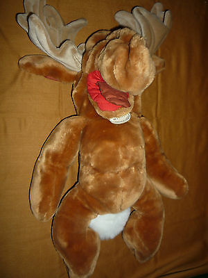 "18"" Plush Wrinkles Moose (The Heritage Collection, 1982) NO CLOTHES"