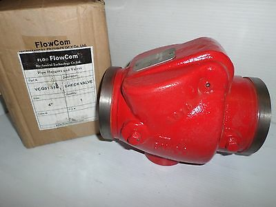 """NEW FLOWCOM VCG01-114 FIRE SPRINKLER 4""""CHECK VALVE GROOVED ENDS(Victaulic Type)"""