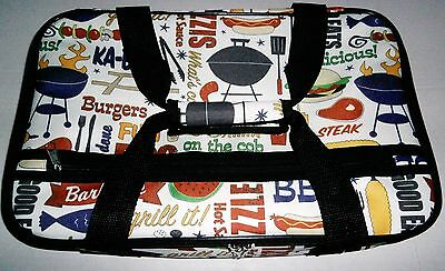 INSULATED CARRYING TOTE for Transporting Hot & Cold Food  BBQ THEME