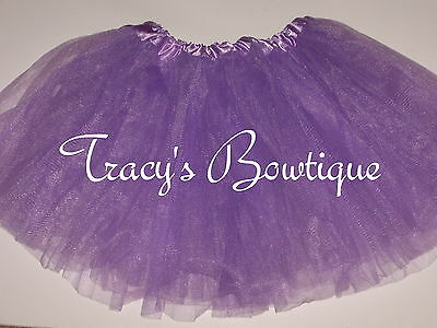 Girls Lavender Tulle Tutu Dance Halloween Dress Up Costume Party Ballet