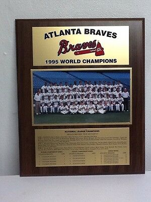 1995 Atlanta Braves World Champions Wooden Frame Season Record B29