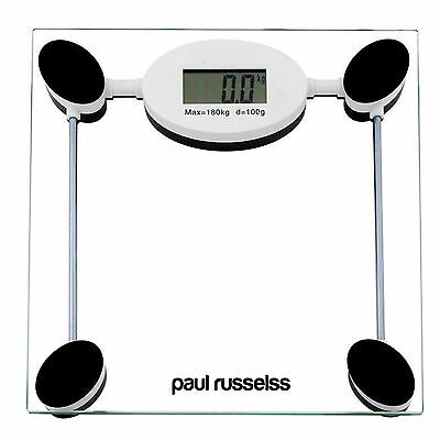 Clear 180 kg Digital Electronic LCD Bathroom Weighing Scale Glass Body Weight