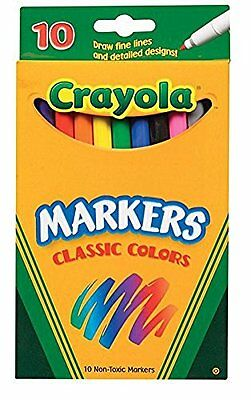 Crayola Classic Colors Markers Fine Line Boxed