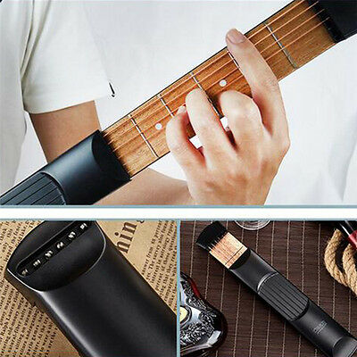 6 Fret Portable Pocket Guitar Practice Tool Gadget Guitar Beginner Chord Trainer