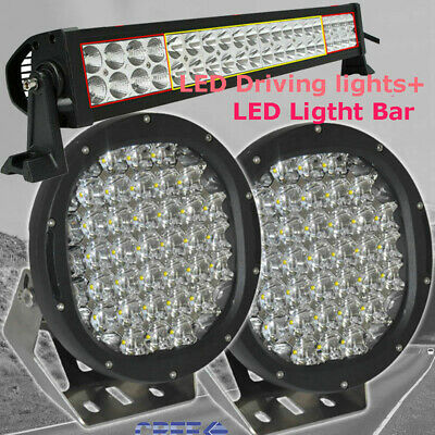 Pair 86000W 9inch Cree LED Driving Spot Light Work OFFROAD 4WD UTE ATV Truck HID