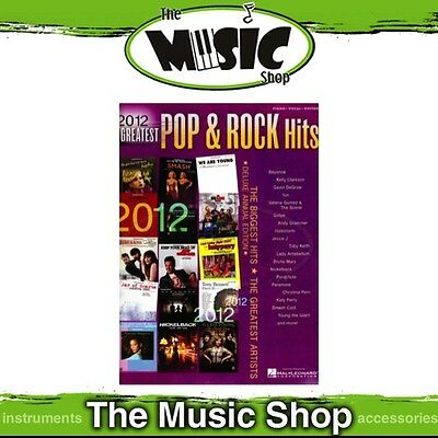 New 2012 Greatest Pop & Rock Hits PVG Music Book - Piano Vocal Guitar