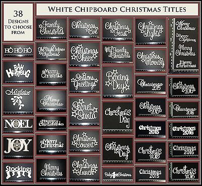 White Chipboard - Christmas Titles