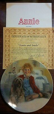 "Knowles ""Annie And Sandy"" Collector Plate  First Issue Annie Collector's Series"