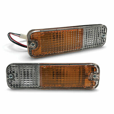 NEW Nissan Bull & Bumper Bar PAIR Indicator Park Light Clear Universal LH+RH