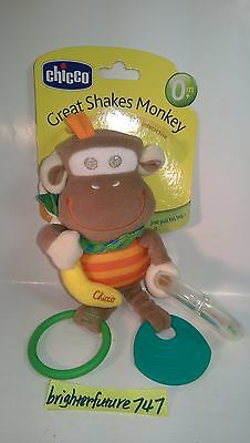 NEW Chicco Great Shakes Monkey Toy. Free Shipping!
