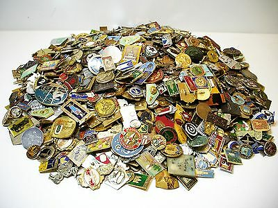Wow! Super Big Lot Of 1800 Vintage Soviet Russian Ussr Cccp Pin- Pinback Badges!