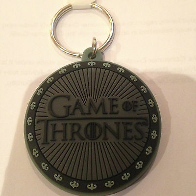 Game Of Thrones Logo  Rubber Keyring --Tagged  New -- Mens/womens Gift