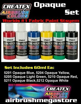 Createx Airbrush Colors Opaque 60ml Set Importer Direct + Free Insured Post