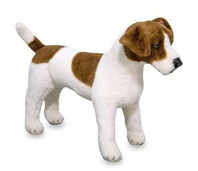 Melissa And Doug Lifelike  Jack Russell Terrier Dog  Plush Toy  New With Label