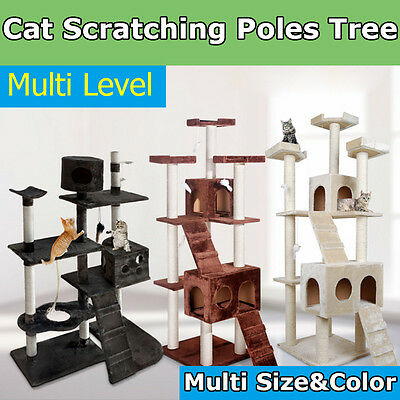 Cat Scratching Post TreeCondo Furniture Scratcher Poles  Gym House  Large