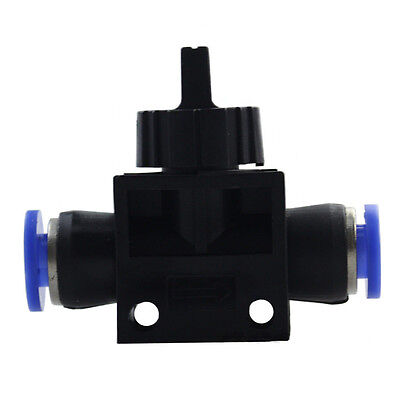 Pneumatic Ball Valve Push In Fittings/Connectors For 4-12mm Air/Water Hose Tube