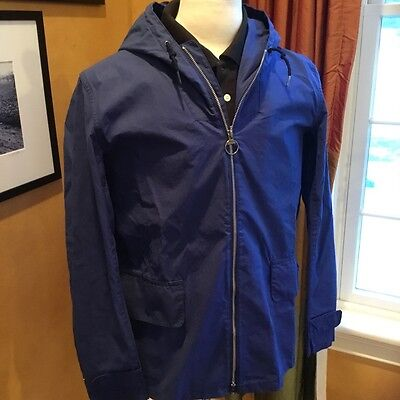Barbour Norton & Sons Seaboard Jacket Navy Blue Medium NWT
