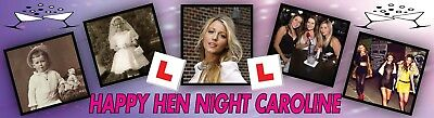 Personalised Hen Nite Party Banner Poster with your photo & text