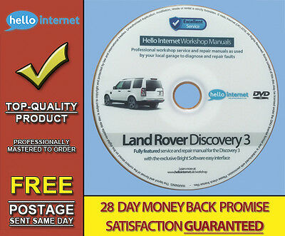 LAND ROVER DISCOVERY 3 • Workshop Service & Repair Manual - Updated 2016
