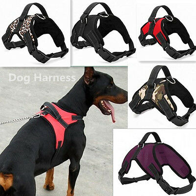 5 Colors Heavy Duty Dog Harness Padded Extra Big Large Medium Small Dog Harness
