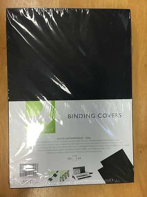 Q-Connect / A4 / Leathergrain Comb Binding Covers Black / Pack of 100 *CLEARANCE