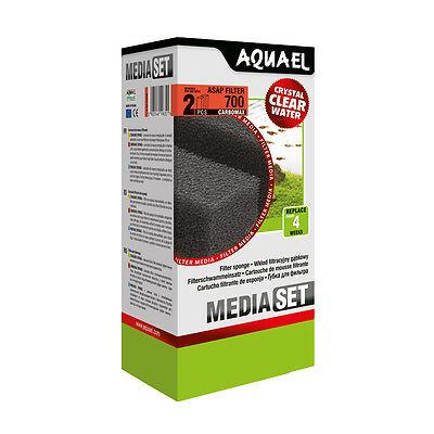 AQUARIUM FILTER MEDIA,REPLACEMENT 2x SPONGE FOAM, CARTRIDGE FILTRATION ASAP 700