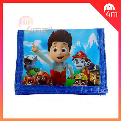 Kids Boys Coin Purse Wallet PAW Patrol Rescue Xmas Gift Note-case Billfold New