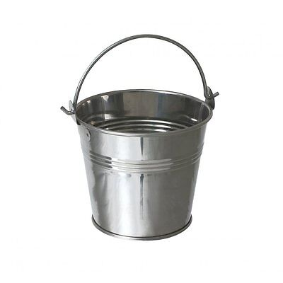 4x  Stainless STEEL SERVING BUCKETS CHIPS Fries Pot  7cm
