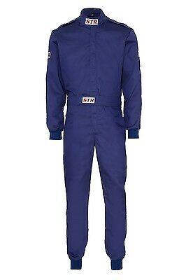 STR Race Overalls Suit Racing SFI Approved 3-2/A1 Standard BLUE EXTRA LARGE SALE
