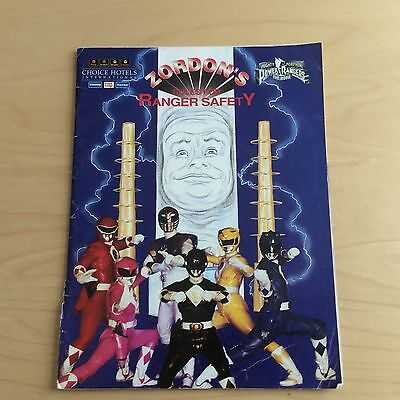 Mighty Morphin Power Rangers Zordons Rules Safety Poster Book Choice Hotels 1995