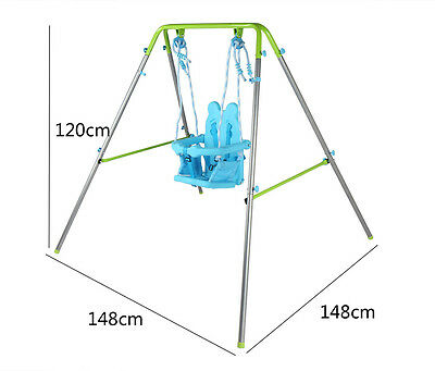 Folding Portable Swing Toddler Swing Baby Swing with safety Seat Outdoor Indoor