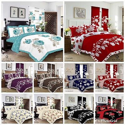 3Pcs Frilled Duvet Set Quilt Cover Bedding with Pillow Case Single Double King