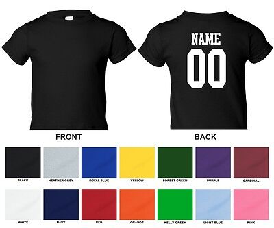 Custom Baby Infant T-shirt, Front Blank, Back Name & Number Only 0003