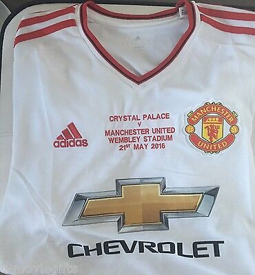 Adidas Manchester United Licensed  Away Jersey Wembley Final Embroidered 15/16