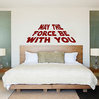 Star Wars May the Force Quote Wall Art Large Vinyl Decal Sticker Child Bedroom