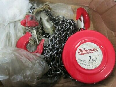 Milwaukee 9672-20, 1 ton, 20' Hand Chain Hoist