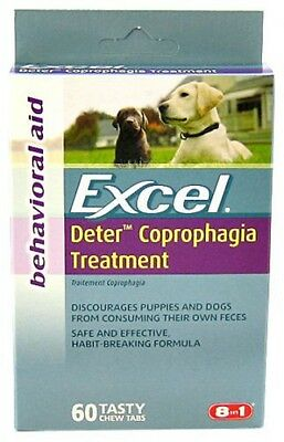 8 in 1 Excel Deter Coprophagia Treatment Dog Supplement 60 Tabs J720