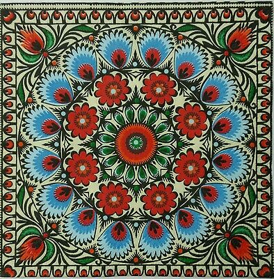 MAROCCO STYLE TILE 2 individual  LUNCH SIZE  paper napkins for decoupage 3-PLY