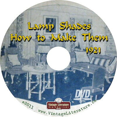 How To Make Vintage Lampshades { Antique Arts Craft Style Lamp Plans} on DVD