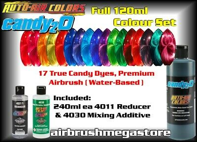 Auto-Air Colors 15 x Candy 2o Products 120ml size + Sundries + Free Insured Post