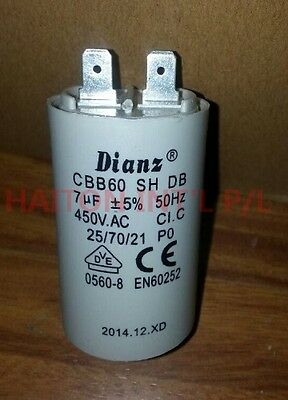 Brand New DIANZ MOTOR RUN CAPACITOR  7uf 450VAC 50HZ WITHOUT BOLT