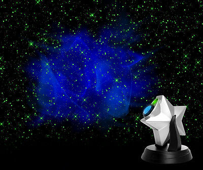 Galaxy 3D Laser Projector Laser Stars Firefly Rave Hologram Show Green Starz NEW