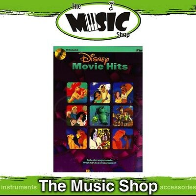 New Disney Movie Hits for Flute Music Book & CD