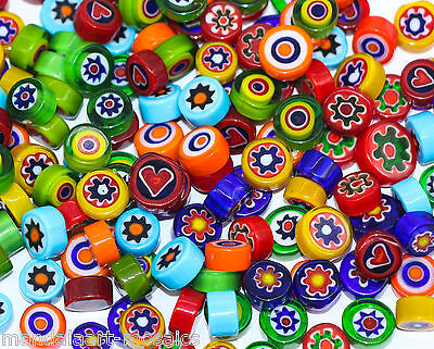 100g - 400g ASSORTED MILLEFIORI GLASS PIECES FOR MOSAIC ART OR CRAFT - COE 90