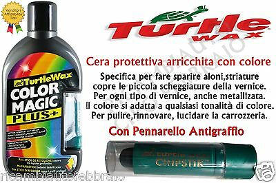 TURTLE WAX COLOR MAGIC CERA PROTETTIVA GRIGIO SCURO PER ALONI STRIATURE 500ml