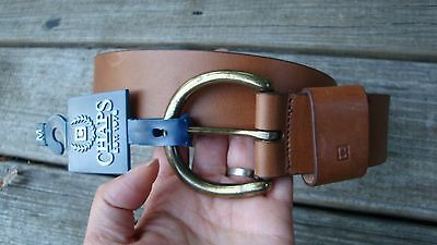 Chaps Brown Mens Geniune Leather Belt  Size M MSRP $32.50