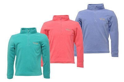 Regatta Hot Shot Girls Lightweight Half Zip Anti Pill Fleece Jacket Multi