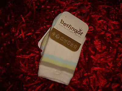 BERLINGOT - CHAUSSETTES BLANCHE BLEU VERTE MARRON (Collection BALADE EN FORET)