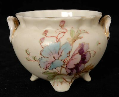 Small Floral Decorated Pot - Potters Mark 3592