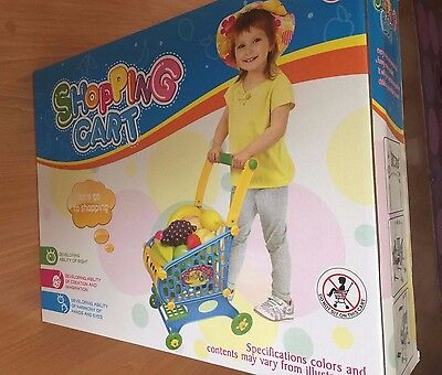 Supermarket Trolley Shopping Cart, great Toy For Toddlers 3+